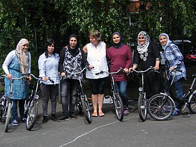 Radfahrkurs für Flüchtlinge